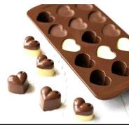 Forma De Silicone Para Chocolate  Coração Gedex