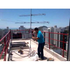 Instalação Antena Digital Uhf E Apontamento Antena Satelite