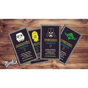 Kit Imprimible Star Wars Personalizado Cumpleaños Munki