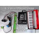 Microfone Para Acordeon Pro Six 2 Solo/baixo Cont. Externo