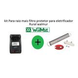 Kit Para Raio + Filtro Protetor Eletrificador Rural Walmur