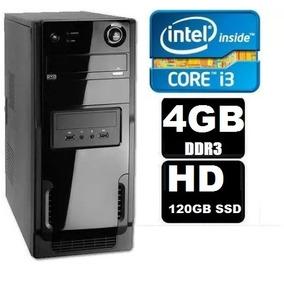 Cpu Intel Core I3 4gb Ddr3 Hd 120gb Ssd