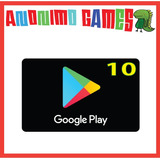 Google Play Tarjeta Prepaga Valor 10 Usd / Usa