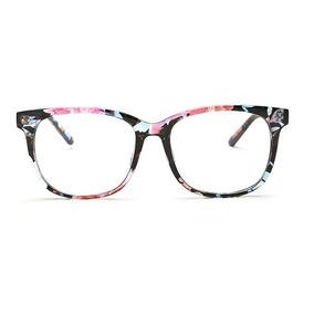Armação De Óculos Para Grau Feminina Quadrada Grande Madeira