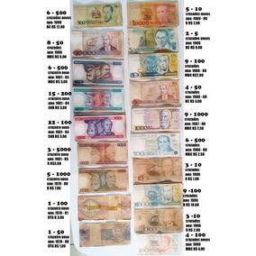 204 Notas De Dinheiro Antigo Cruzeiro Cruzado