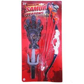 Arco E Flecha Com Acessorios Samurai Weapons C:44 Cm