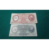 2 Billetes Argentinas Moneda Nacional Resellados