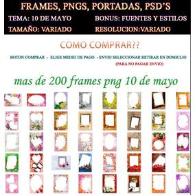 Frames 10 De Mayo Psd Png Plantillas Dia De Las Madres