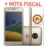Cel. Moto G5- 16gb Dourado Original Com Fone De Ouvido +nota