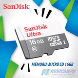 Memoria Micro Sd 16gb Sandisk Ultra Clase 10 Sdxc 80mb/s