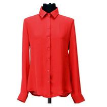 Camisa Blusa Feminina Chiffon Seda Importada