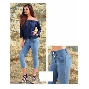 Jeans Pescador Corte Colombiano Push Up Tallas Extras 5-40