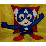 Almohadón Infantil Muñeco Nene Super Heroe
