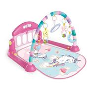 Tapete De Atividades Para Bebê Piano Unicórnio Rosa Maxibaby
