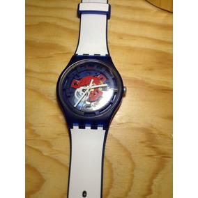 Reloj Swatch Azul/blanco Usado