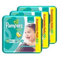 Fralda Pampers Total Confort Super Xg 180 Tiras