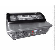 Base Refrigerada 8 Insertos Sobre Mesa C/tapa