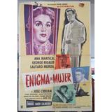 Afiche Poster Cine Enigma De Mujer Arte De Bayón Pelicula