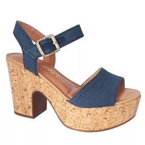 Sandália Dakota Plataforma Jeans Anil Z2393 - Qualidade Top