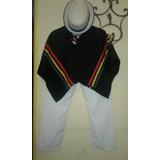 Disfraz De Coya Poncho Pantalon Gorro
