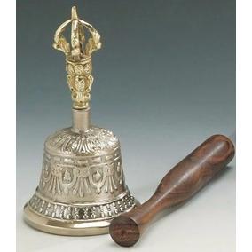 Campana Tibetana Extra Grande, Aleación 7 Metales 12 X 21cms
