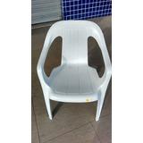 Cadeira Poltrona De Plastico Super Resistente Branca 182 Kg