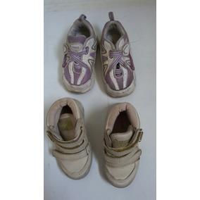 2 Sapatos Para Menina Tamanho 21 Usados