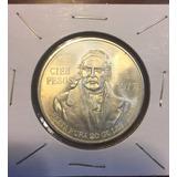 Moneda De $100 Pesos Plata.
