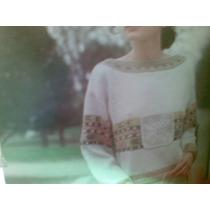 Saco Mixto Crochet Y Agujon Tejido A Mano
