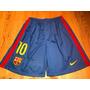 Calção Barcelona Home #10 Messi - Original Nike - Tamanho G