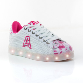 Zapatillas Led Usb Flores Blanco Addnice Sport 78
