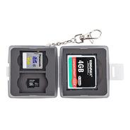 Estuche Tarjetas De Memoria 1 Compact Flash, 2 Sd Y 2 Msd