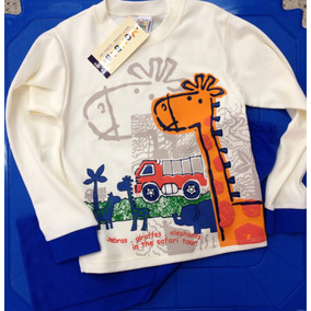 Pijama De Niños Safari Vonbebe 100% Algodón Premium