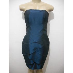 Vestido Tqc Curto Azul Tafeta Forrado Tam G Melhor Para M