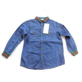 Camisa Nene Nena Gucci Original 6 Años Hermosa Unica Algodon