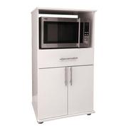 Mueble Porta Microondas Grill 1 Cajon Organizador + Cuotas