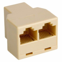 Adaptador Cable Cat5 6 Ethernet 3 Hembra Splitter Rj-45 #84
