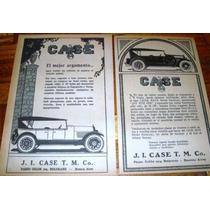 Auto Case 1928 4 Publicidad Original Antigua Motor Viejo