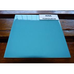 Azulejos Cerámicos De Colores 15 X 15 Color: Azul Turquesa