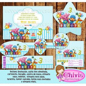 Kit Imprimible Pocoyo Tarjetas Candy Bar