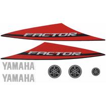 Kit Adesivos Yamaha Factor Ybr 125 K1 2014 Vermelha Preta