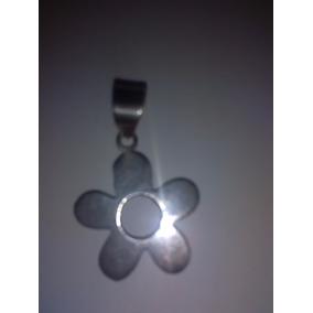Colgante De Plata Flor