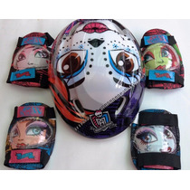 Monster High Kit D Protección Patines Bic Patineta +envio Gr