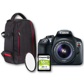 Kit Canon Rebel T6 18-55mm + Mochila + Uv + 16gb | Garantía