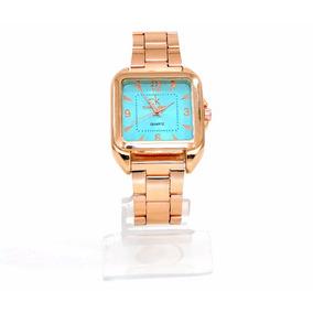 Relógio Feminino Calvin Klein Rosê Fundo Azul Cód. 52092