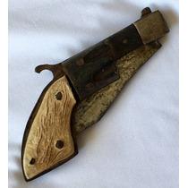 Revólver Canivete Antigo Coleção 9cm + 7,3cm Lâmina