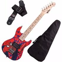 Guitarra Phx Marvel Infantil Criança Spider Man Homem Aranha