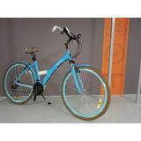 Bicicleta Passeio Tito Urban 700 Azul Shimano 21v