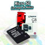 Micro Sd Con Mapa Mexico Estereos Gps