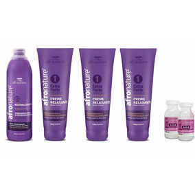 Kit 3 Relaxamento Capilar Extra Forte Afro Nature/all Nature